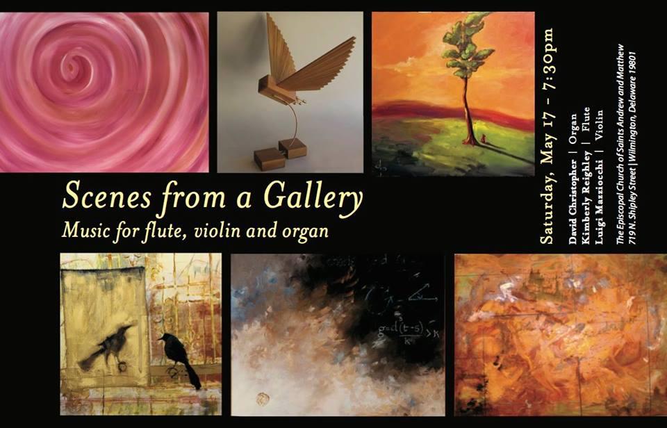 Organ, Flute & Violin – Scenes from a Gallery – May 17