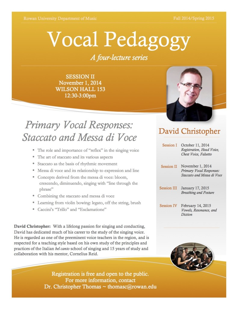 Vocal Pedagody Session II