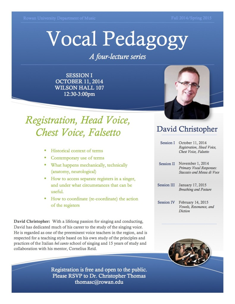 Vocal Pedagogy Session I