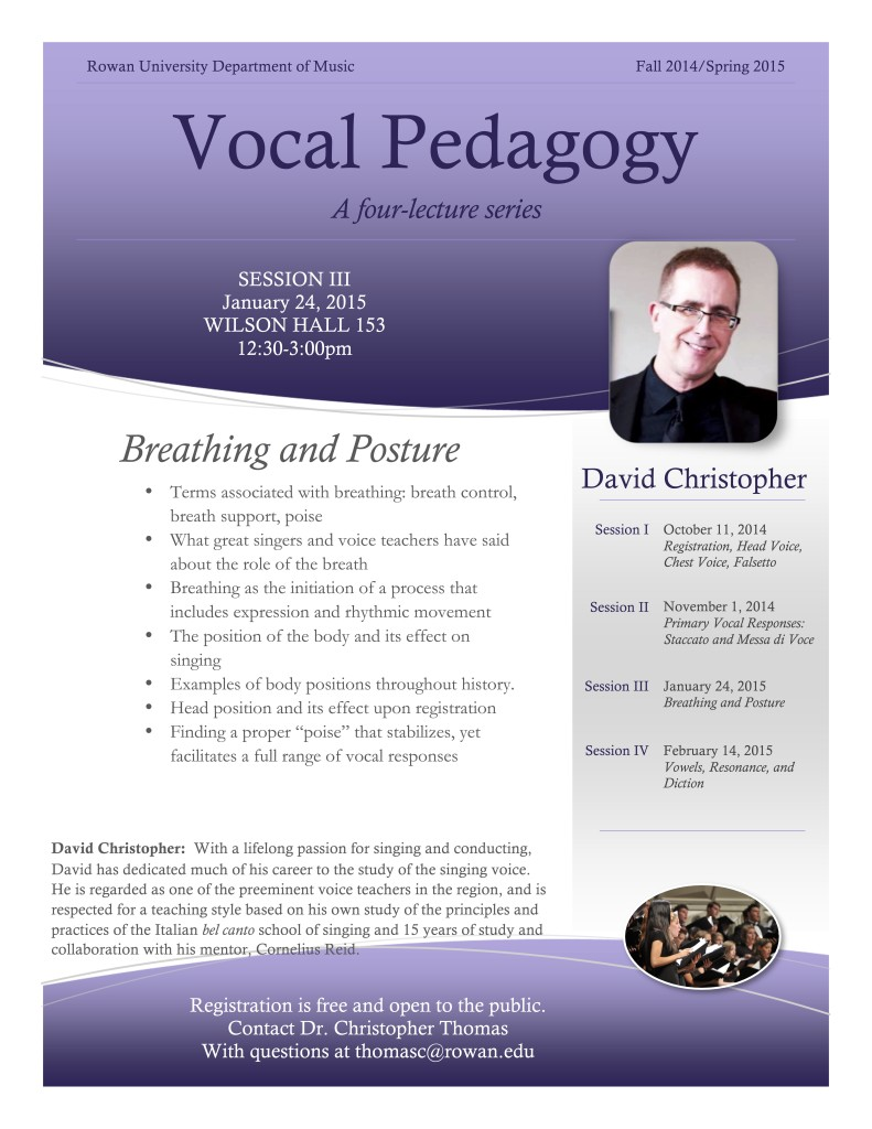 Vocal Pedagogy Session III
